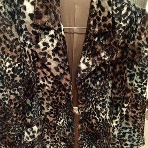 Jackets & Blazers - ANIMAL PRINT BRUSH VELOUR BLAZER